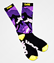 DGK Purple Camo & Yellow Crew Socks