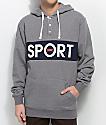 DGK Sport sudadera henley con capucha en gris