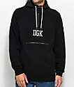 DGK Tackle Half Zip Black Hoodie