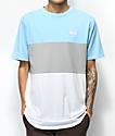 DGK Tactics Blue, Grey & White T-Shirt