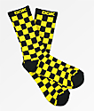DGK Taxi Yellow & Black Checker Crew Socks