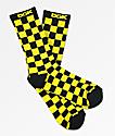 DGK Taxi calcetines a cuadros en negro y amarillo