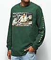 DGK The Boss camiseta de manga larga en verde de bosque