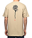 DROPOUT CLUB INTL. Rose Bone Thrower Tan T-Shirt