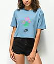 DROPOUT CLUB INTL. Spiegel Garden Blue Crop T-Shirt