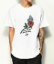 DROPOUT CLUB INTL. Spiegel Rose White T-Shirt