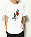 DROPOUT CLUB INTL. Spiegel Rose camiseta blanca