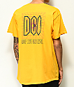 DROPOUT CLUB INTL. Spiegel Scrawl Yellow T-Shirt