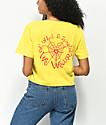 DROPOUT CLUB INTL. Spiegel Weave camiseta corta dorada