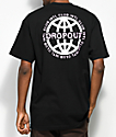 DROPOUT CLUB INTL. Worldwide Black T-Shirt