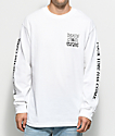 DROPOUT CLUB INTL. X Death Cloak White Long Sleeve T-Shirt