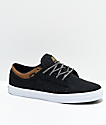 DVS Aversa McEntire Black & Brown Knit Skate Shoes
