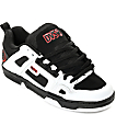 DVS Comanche Black, White & Red Skate Shoes