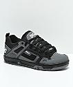 DVS Comanche zapatos de skate de nubuck en negro y color carbón