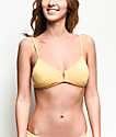 Damsel Banana Flat Ribbed Bralette Bikini Top