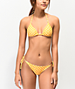 Damsel Banana Yellow Polka Dot Super Cheeky Bikini Bottom