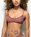 Damsel Blanket Stitch Tobacco Bralette Bikini Top