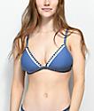 Damsel Blanket Stitch top de bikini de triángulo azul