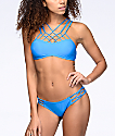 Damsel Blue Macrame Super Cheeky Bikini Bottom