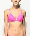 Damsel Bobby Pink Triangle Bikini Top