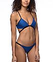 Damsel Cheeky bottom de bikini en azul marino y negro
