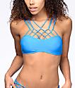 Damsel Macrame Bright Blue Bralette Bikini Top