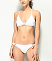 Damsel Scale White Tie Side Cheeky Bikini Bottom