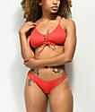 Damsel Scintilla Ribbed Red Super Cheeky Bikini Bottom