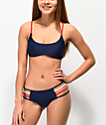 Damsel Strappy Red, White, & Navy Blue Cheeky Bikini Bottom