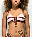 Damsel Summertime Tie Dye Lace Up Bralette Bikini Top