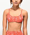 Damsel Tropico Red Pique Bralette Bikini Top