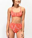 Damsel Tropico braguitas de bikini de talle alto