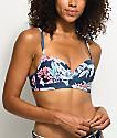 Damsel Waikiki Blue Floral Molded Bralette Bikini Top