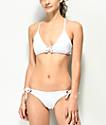 Damsel braguitas de bikini en blanco texturizado
