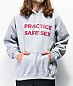 Danny Duncan Practice Safe Sex Grey Hoodie