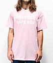 Danny Duncan Practice Safe Sex Pink T-Shirt
