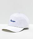 Danson Logo Script White & Blue Strapback Hat