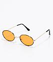Dark Alley gafas de sol redondeas en naranja translúcido