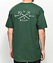 Dark Seas Black Salt Forest Green T-Shirt
