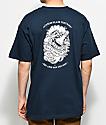 Dark Seas Bubbles Navy T-Shirt