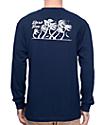 Dark Seas Flurry II camiseta de manga larga en azul marino