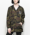 Dark Seas Forbidden Camo Hooded Coaches Jacket