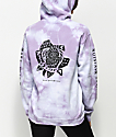 Dark Seas Hawthorne Rose Purple Tie Dye Hoodie