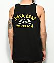 Dark Seas Headmaster Tuki camiseta sin mangas en negro y dorado