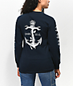Dark Seas Lost Love Blue Long Sleeve T-Shirt