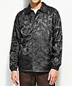 Dark Seas Night Prowler Black Camo Coaches Jacket