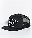 Dark Seas Trident Black Trucker Hat