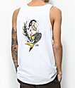 Dark Seas Upstream White Tank Top