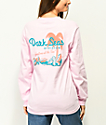 Dark Seas Vacation Pink Long Sleeve T-Shirt