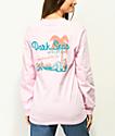 Dark Seas Vacation camiseta rosa de manga larga